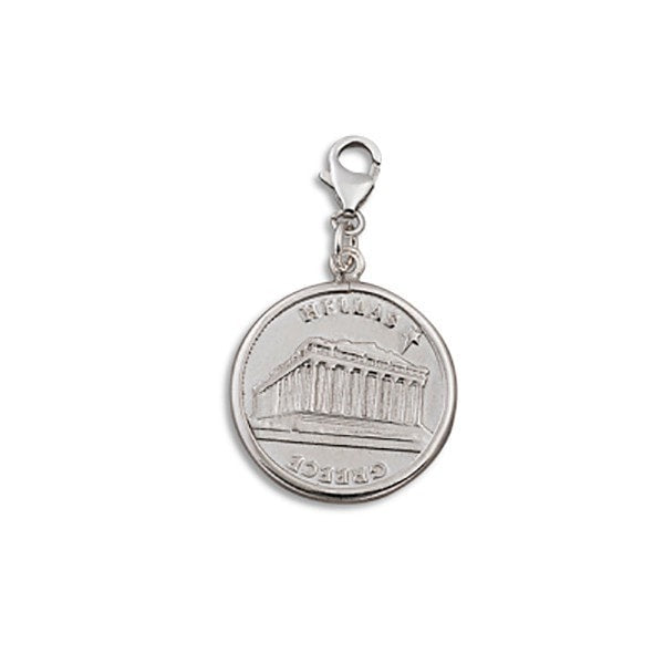 Von Treskow Medium Greek Coin Charm