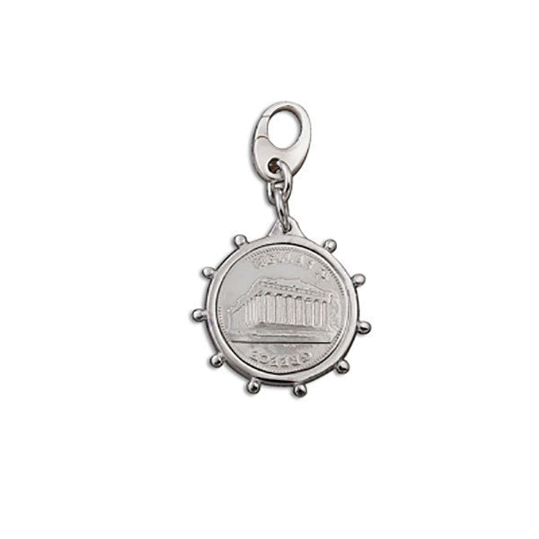 Von Treskow Small Bezel Greek Coin  Charm