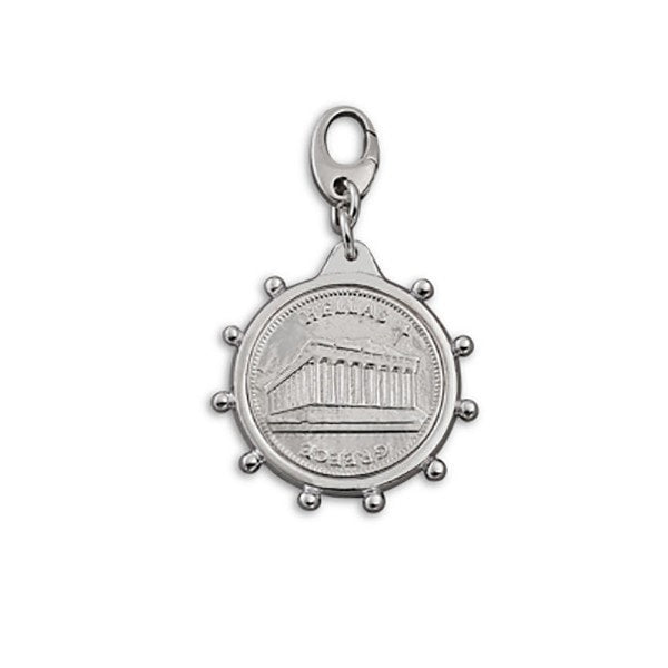 Von Treskow Medium Bezel Greek Coin Charm