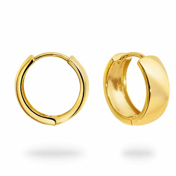 DUO FINE 9 CT YELLOW GOLD 15MM HOOP EARRINGS