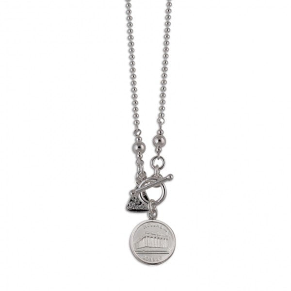 Von Treskow Greek Coin On Short Chain Necklace