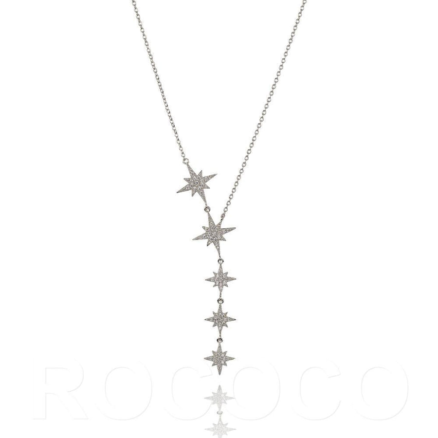 DUO SHINE YOUR LIGHT BRIGHTLY STAR DROP NECKLACE