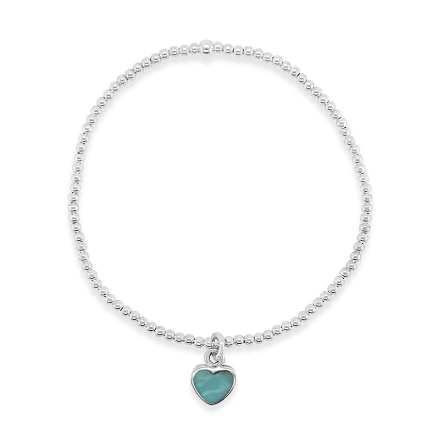 Duo small turquoise heart bracelet