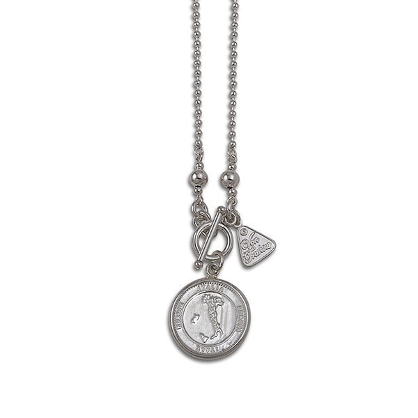 Von Treskow 45Cm Ball Chain With Italian Coin Necklace