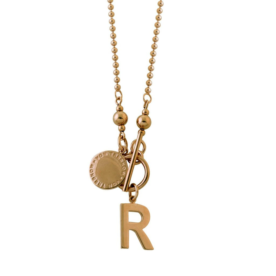 Von Treskow Initial and toggle Necklace (45cm)