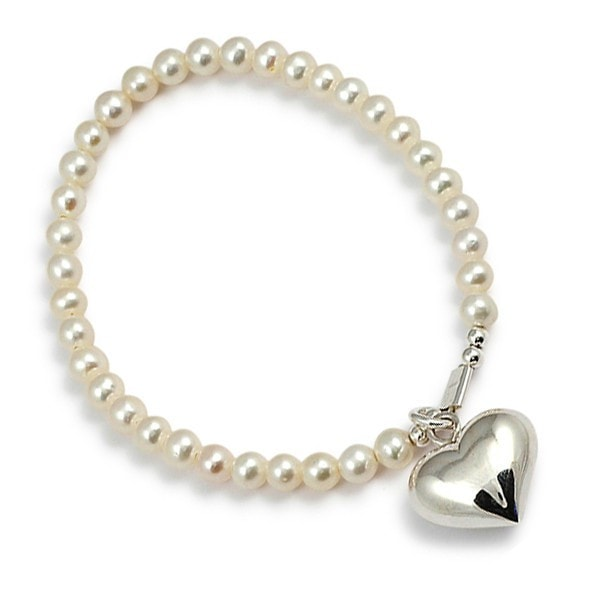 Von Treskow Pearl And Love Heart Bracelet