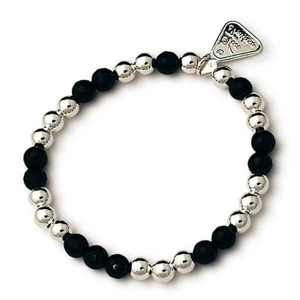 Von Treskow Onyx And Silver Ball Bracelet