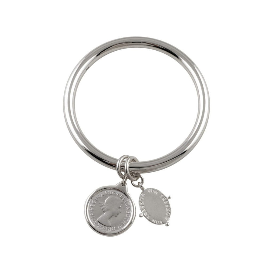 VON TRESKOW COIN AND PLATE BANGLE