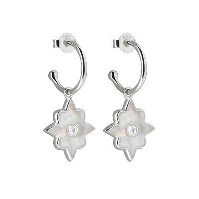 Duo temple moon earrings