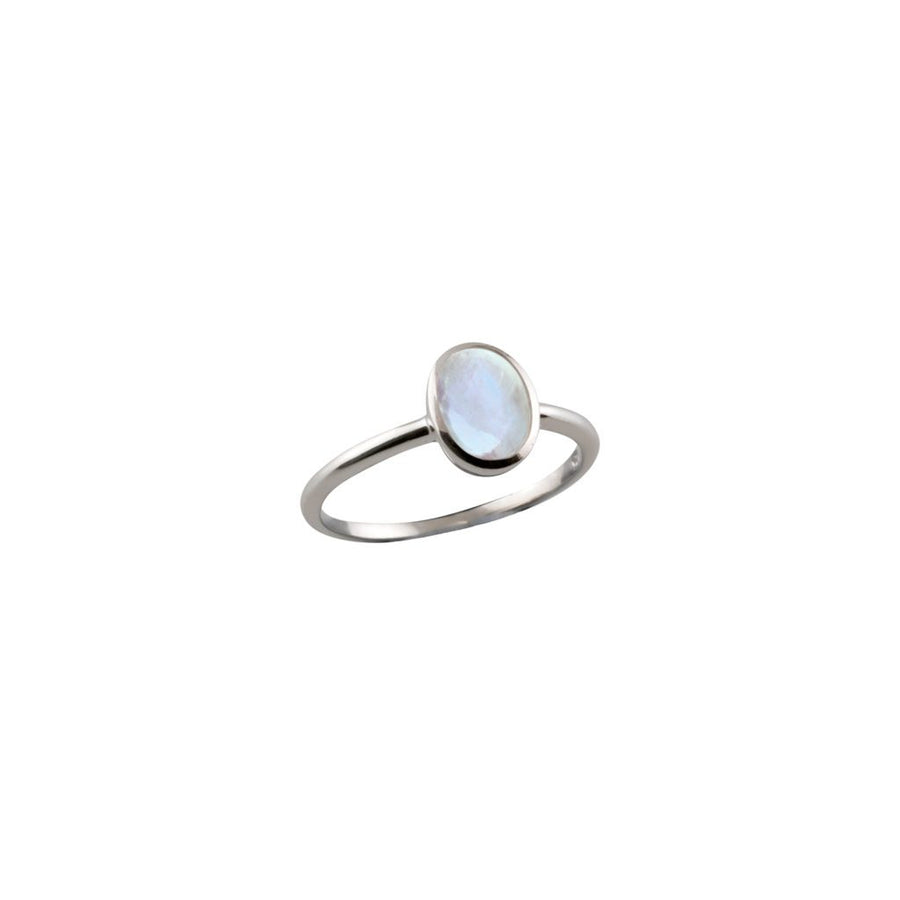 VON TRESKOW SMALL OVAL MOON RING