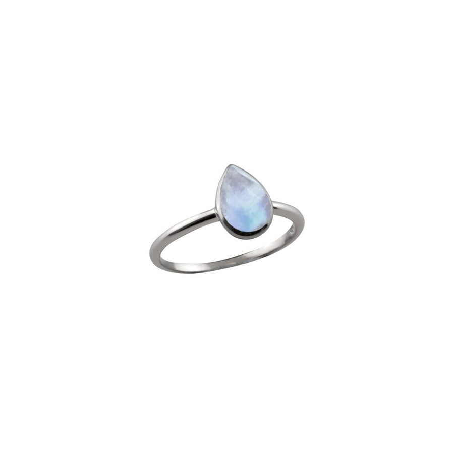 VON TRESKOW SMALL PEAR MOON RING