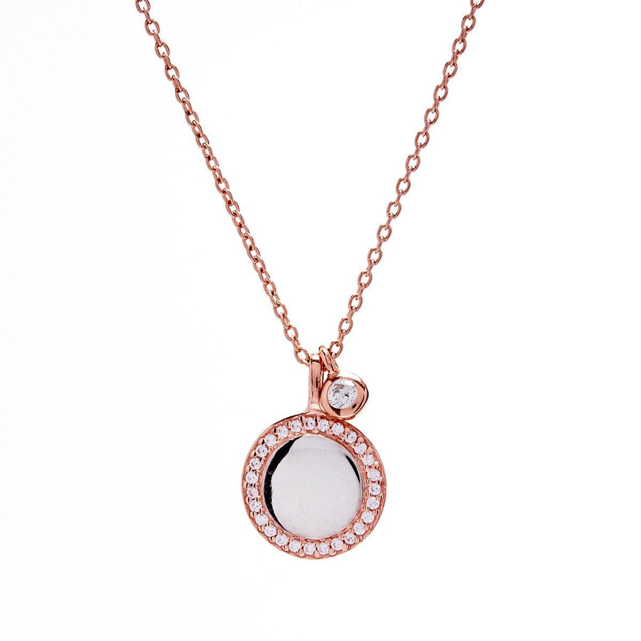 Sybella rose gold double charm necklace