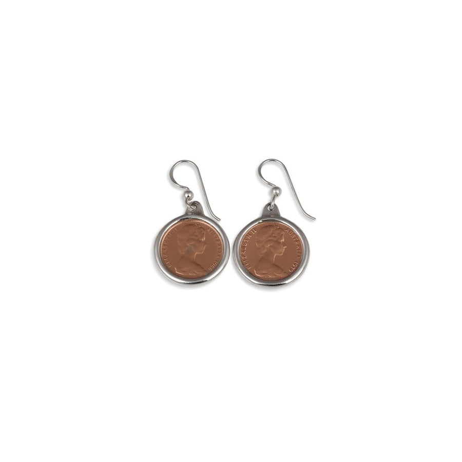 Von Treskow One Cents Coin earrings
