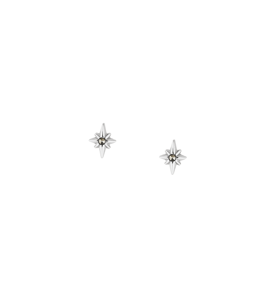 POINTED STAR STUD SET (STERLING SILVER)