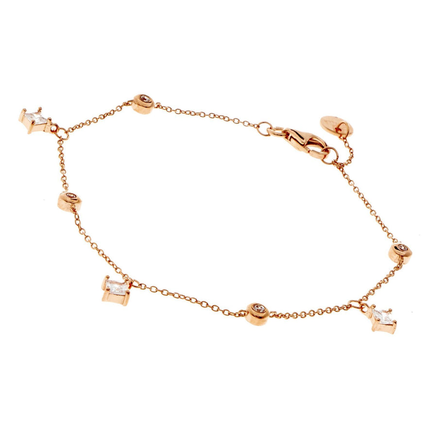 Sybella Rose gold trilliant bracelet