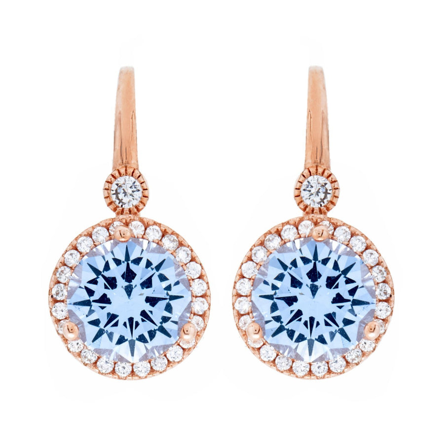Sybella blue round drop earrings