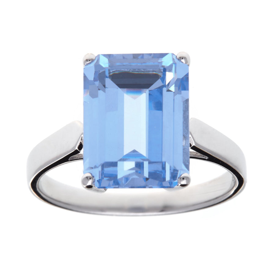 Sybella blue rectangle ring