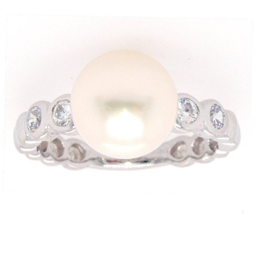 Sybella Cubic & freshwater pearl ring