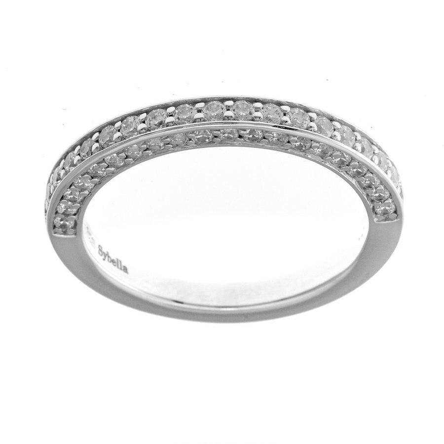 Silver & cubic zirconia ring