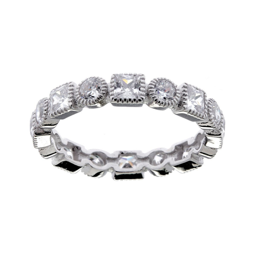 Sybella pave thin band ring