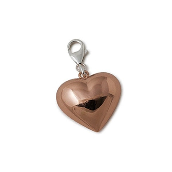 Von Treskow Large Rose Gold Puffy Heart Charm