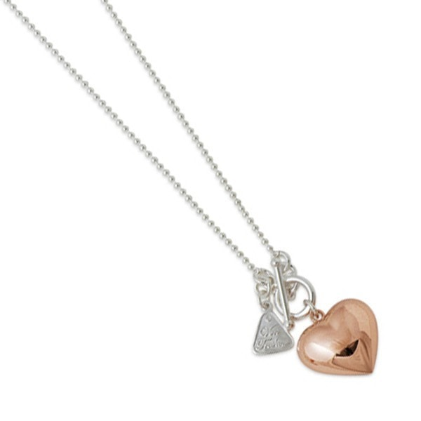 Von Treskow Large Rose Gold Puffy Heart Necklace