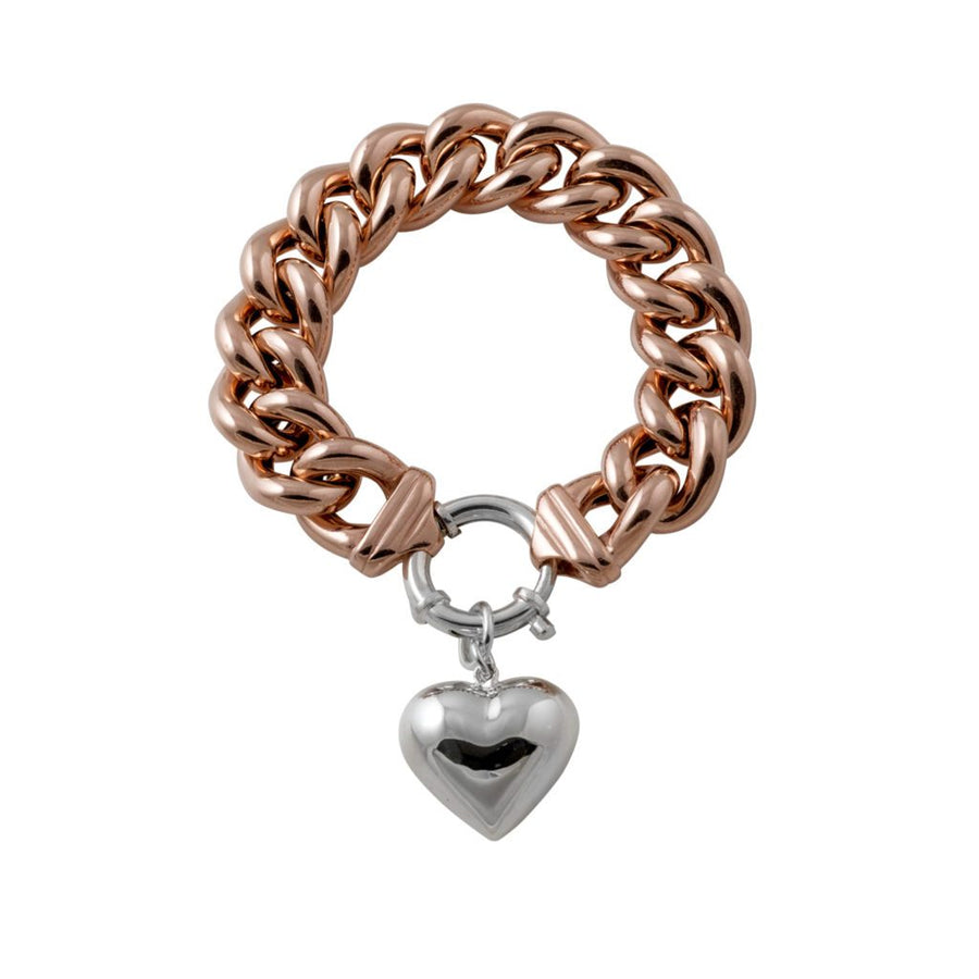 rose gold mama with heart bracelet
