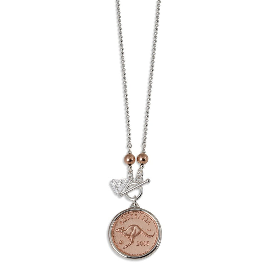 PERSONALISED YEAR PENNY TOKEN NECKLACE