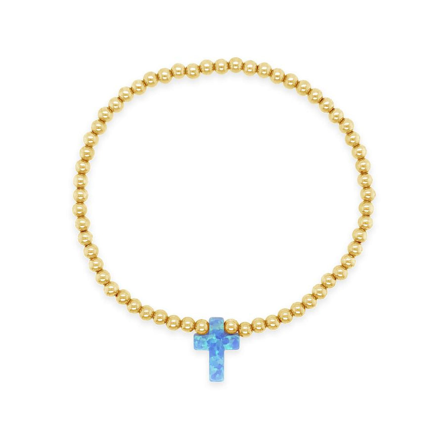Duo Gold Cross Opalite Bracelet