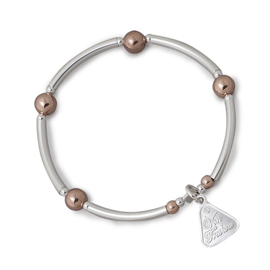 Von Treskow Bar And Rose Gold Ball Bracelet