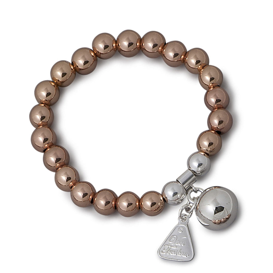 Von Treskow  Rose Gold And Silver Ball Charm Bracelet