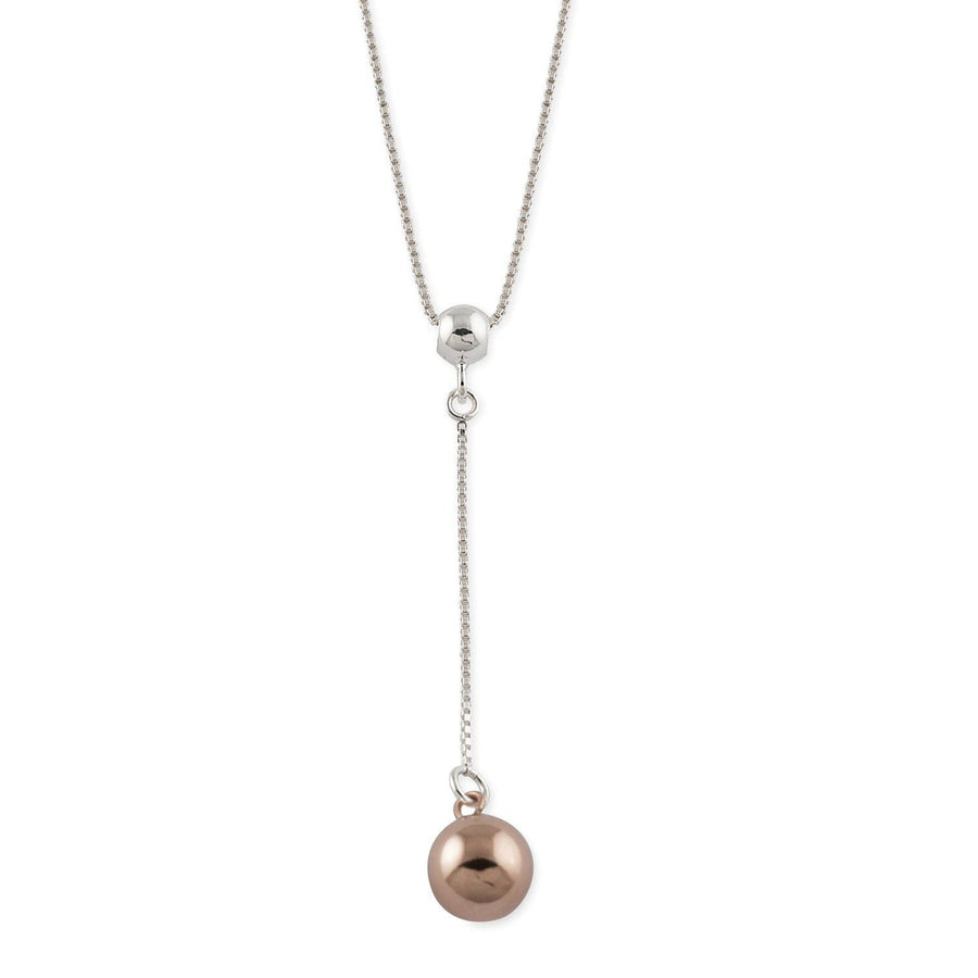 VON TRESKOW  LARIAT BALL NECKLACE