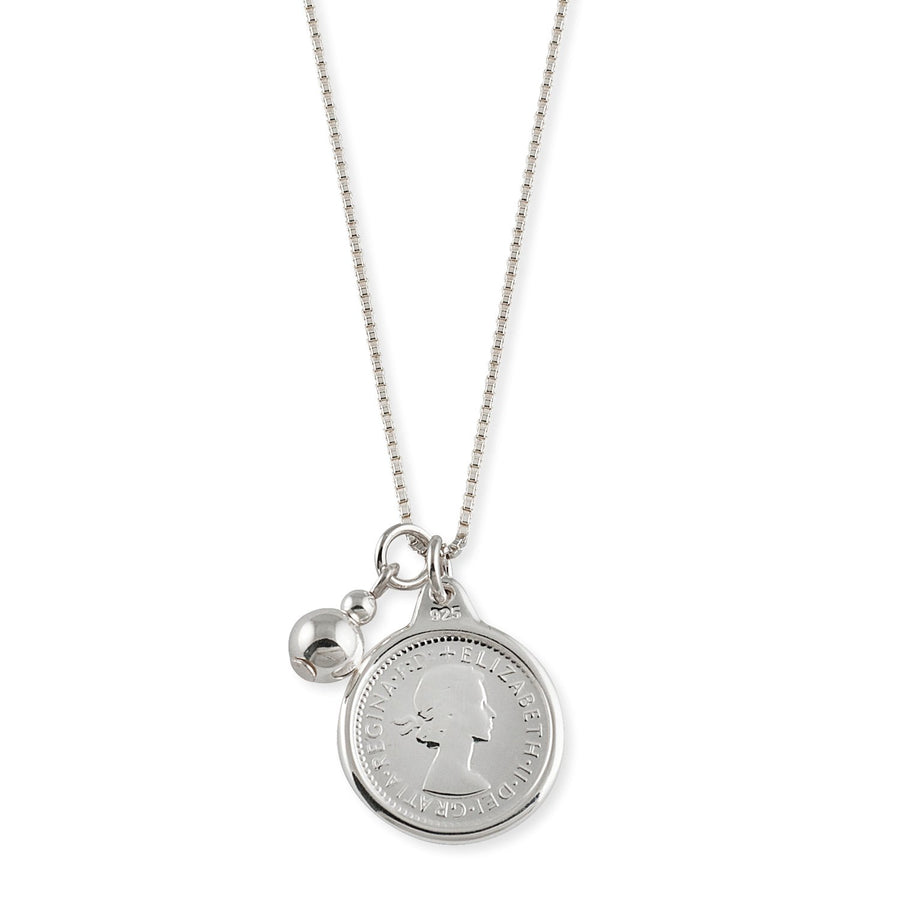 VON TRESKOW  COIN WITH BALL NECKLACE