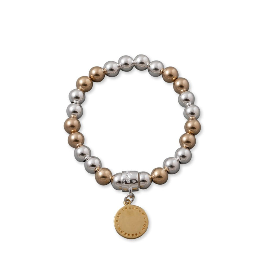 Von Treskow two tone ball bracelet