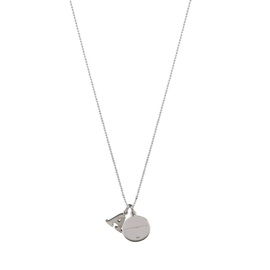 Von Treskow small initial and Plate VT necklace (42CM)