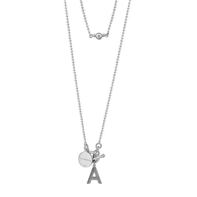 Von Treskow long (80CM) large initial and toggle necklace
