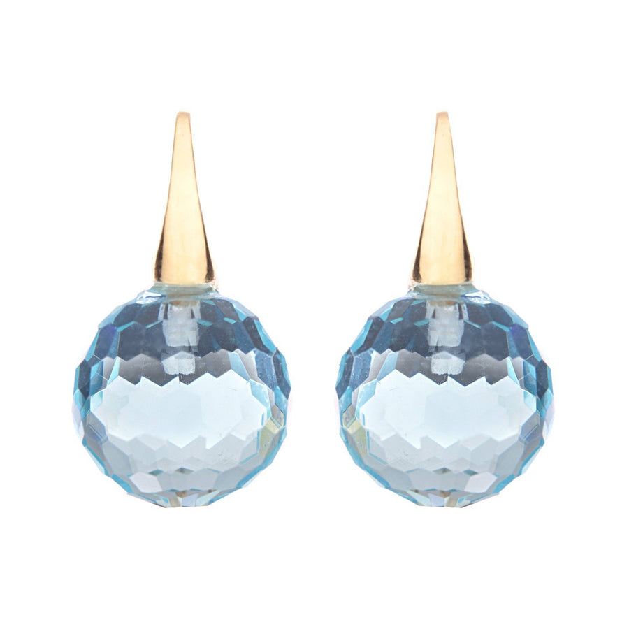 Sybella  facetted topaz ball earrings