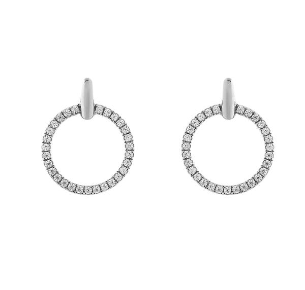 Sybella Circle stud earrings.