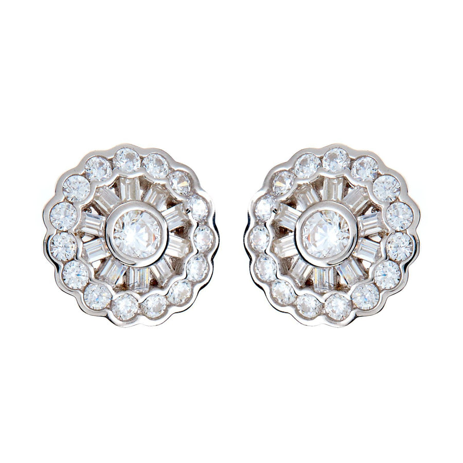 Sybella round stud earrings