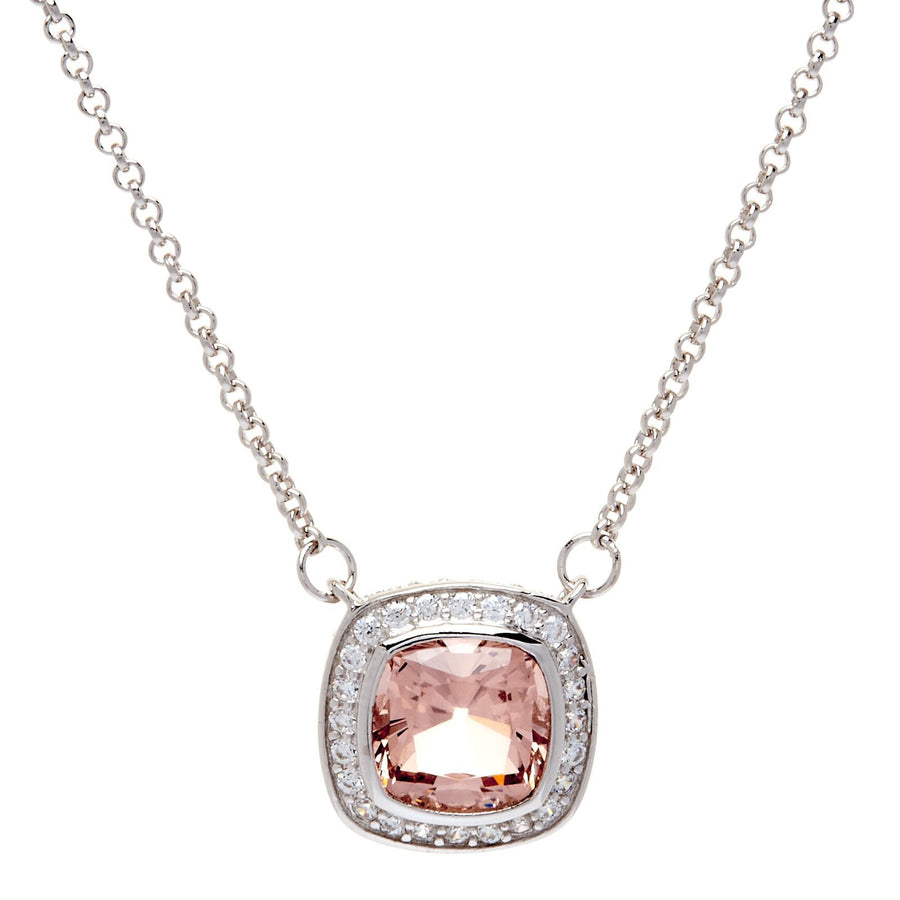 Sybella square pink necklace