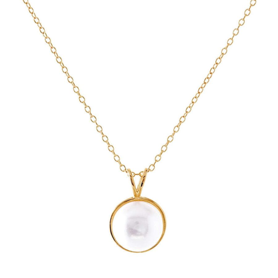 Sybella round fresh water pearl necklace