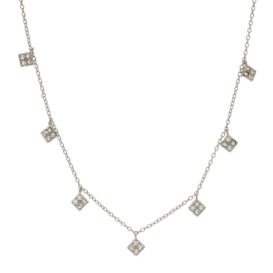 Sybella hanging diamonds necklace