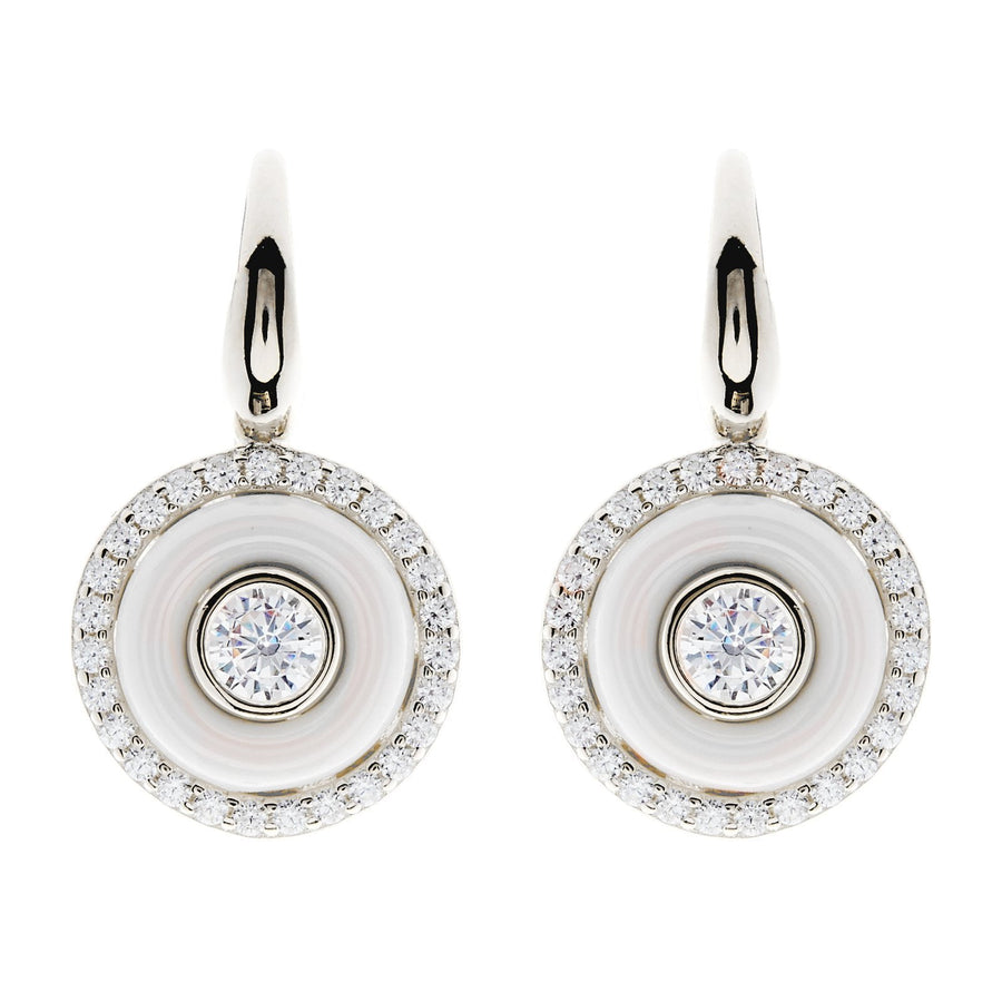 Sybella round drop earrings