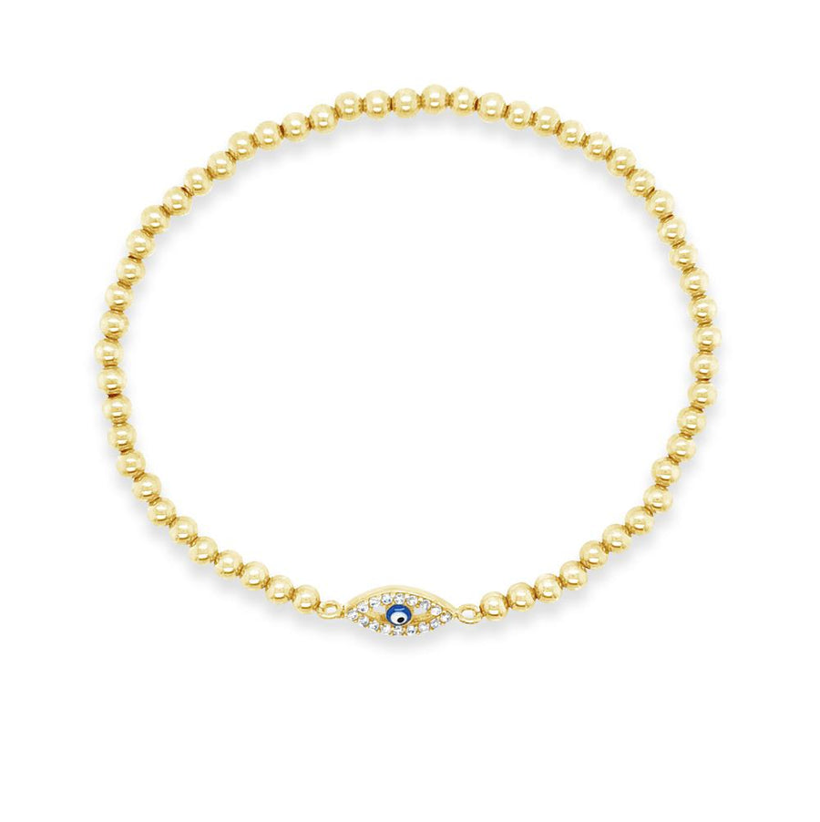 Duo Gold Evil Eye  Bracelet