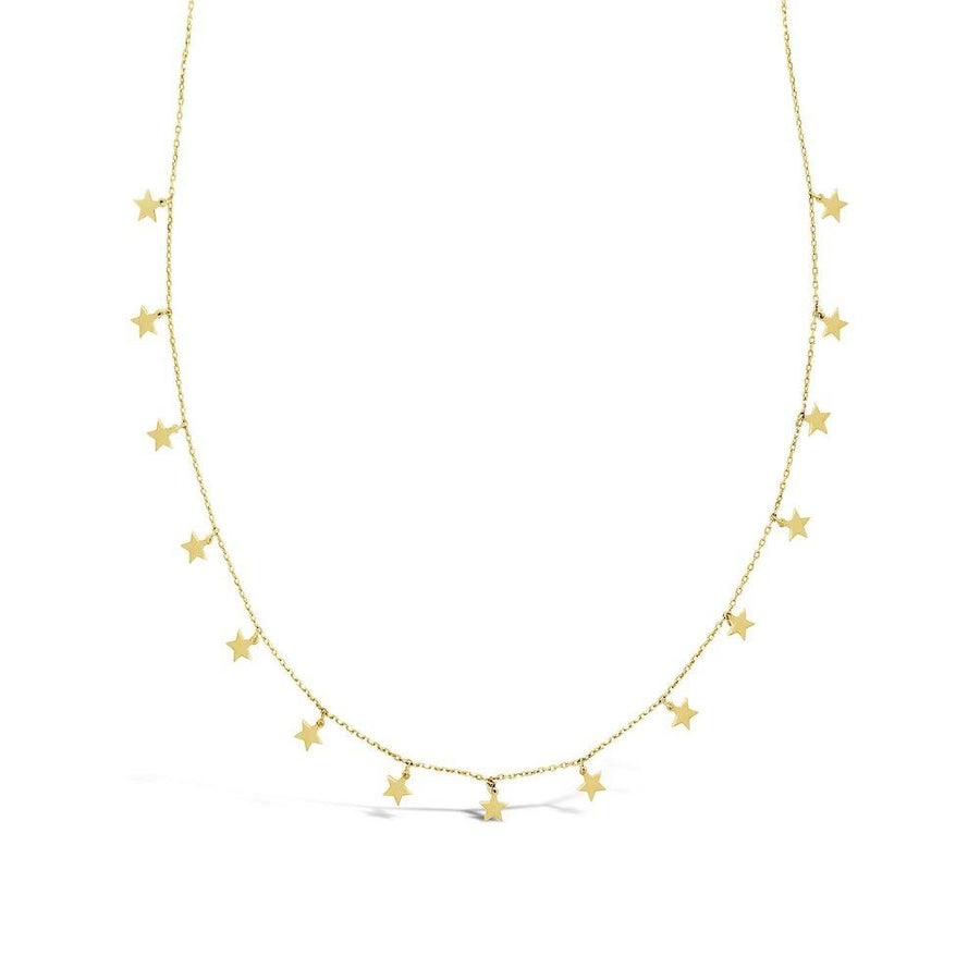 """Make a wish"" Yellow Gold star necklace"
