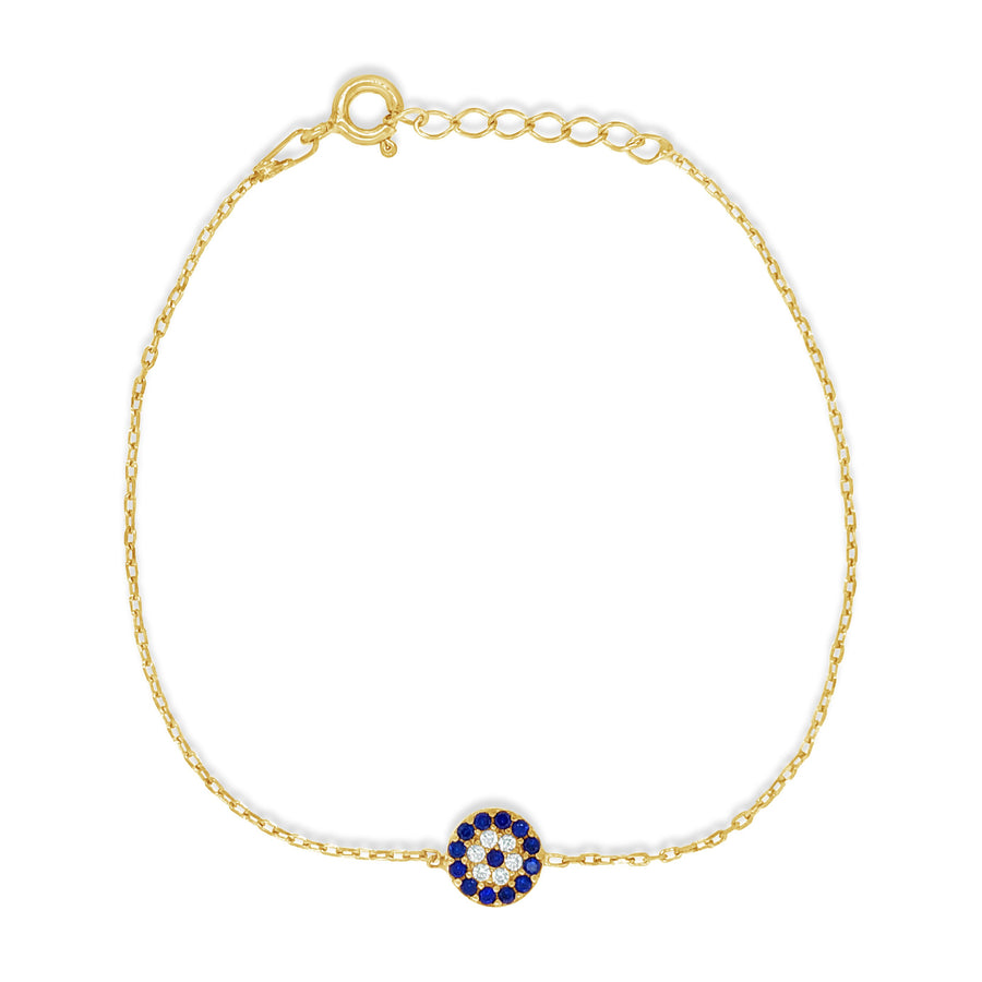 Duo small evil eye gold bracelet