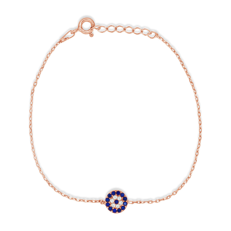 Duo Jewellery Rose Gold Evil Eye Bracelet