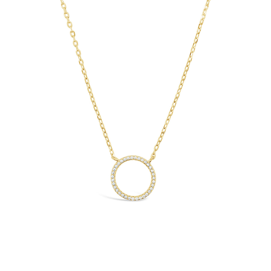 Duo circle of life necklace