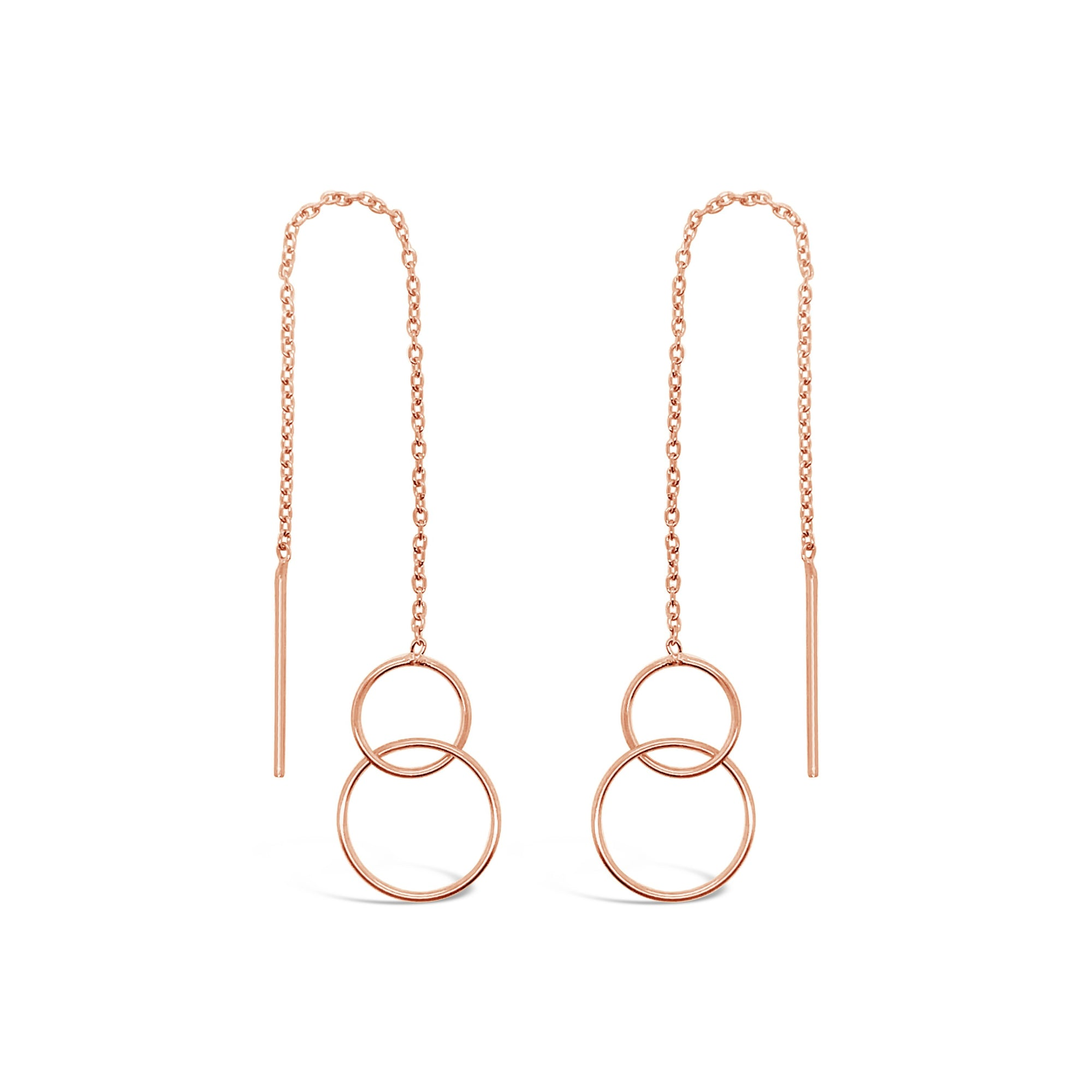 Duo Double Circle Thread Earrings Duo Jewellery