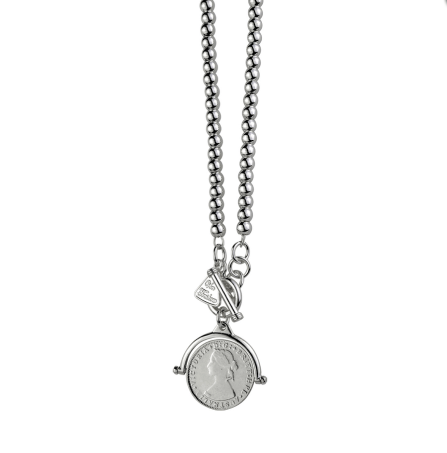 Von Treskow ball with flip coin necklace